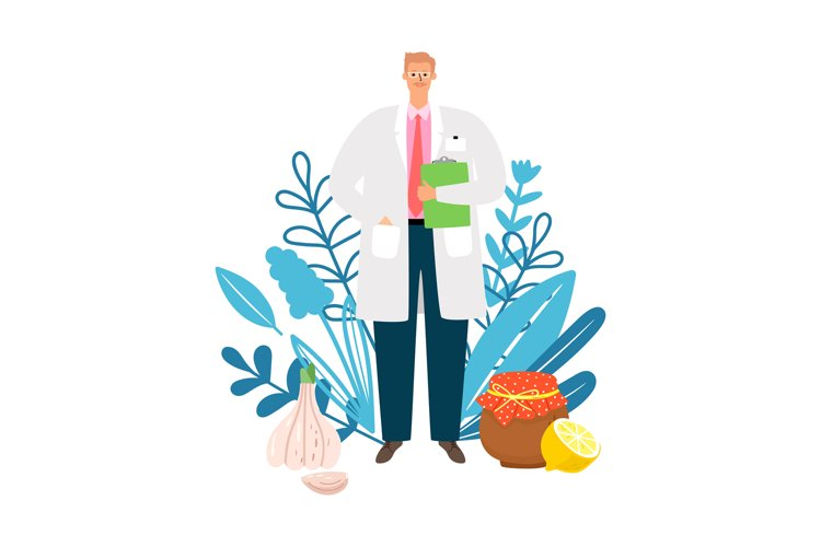 Doctor homeopath illustration example image 1