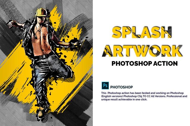 Splash Artwork Photoshop Action example image 1