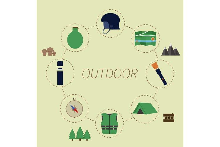 Outdoor Adventure Infographics example