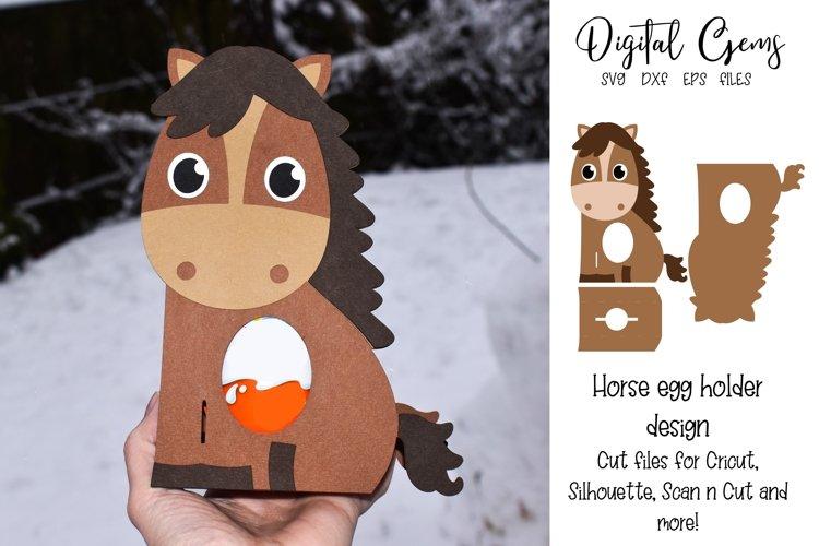 Horse egg holder design SVG / DXF / EPS files. example image 1