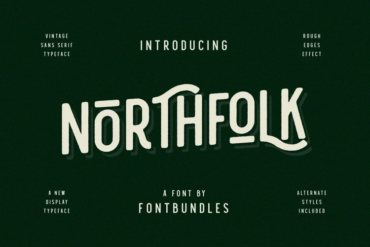 Web Font Nothfolk example image 1