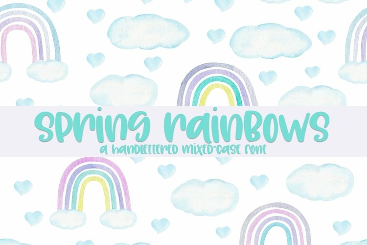 Web Font Spring Rainbows - A Hand-Lettered Mixed-Case Font example image 1