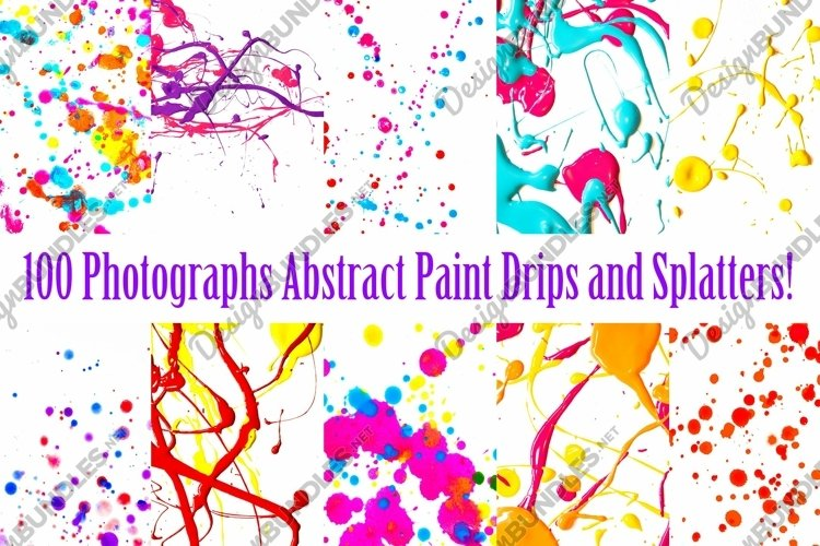Paint Drips Photography Collection by Squeeb Creative