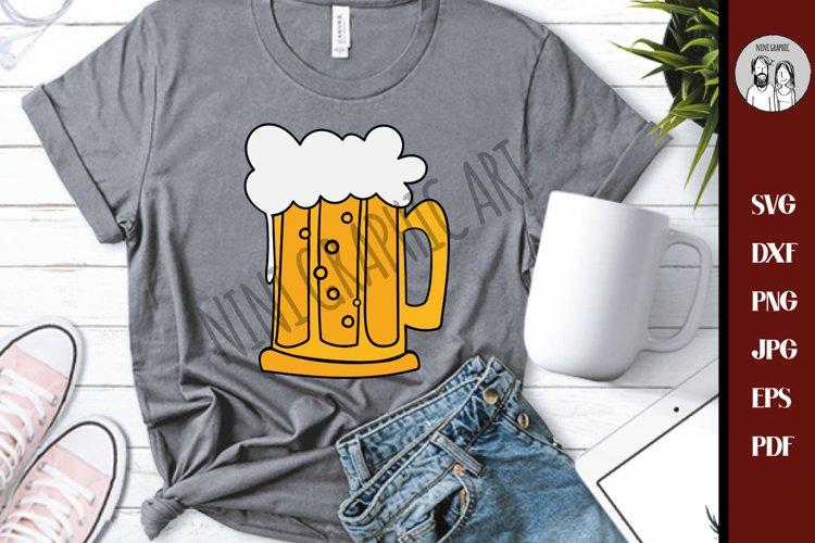 Beer mug svg, drink svg-beer svg-Cricut silhouette