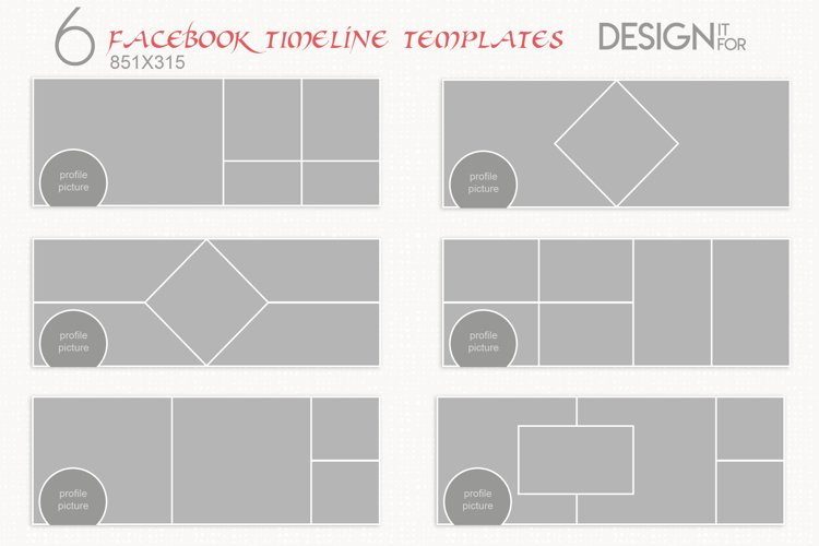 Facebook Timeline Cover Template, PSD example image 1