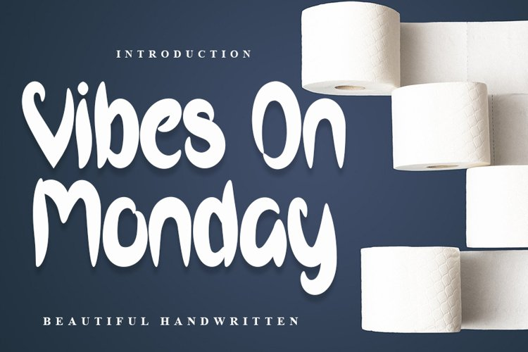 Vibes On Monday - Beautiful Handwritten Font example image 1