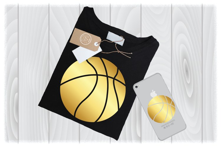 Gold Basketball SVG Files for Cricut Designs| Sport SVG File example image 1