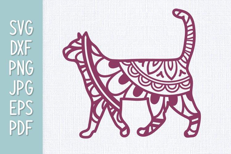 Cat Mandala SVG example image 1