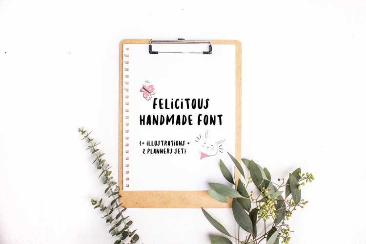 Felicitous font, illustrations and planners example image 1