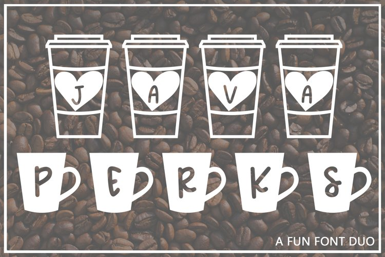 Java Perks - A Fun Font Duo