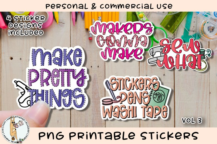 Crafters Crafty Stickers Vol 3 Printable PNG example image 1