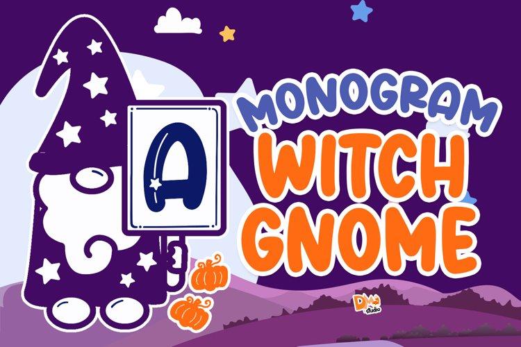 Monogram Witch Gnome example image 1