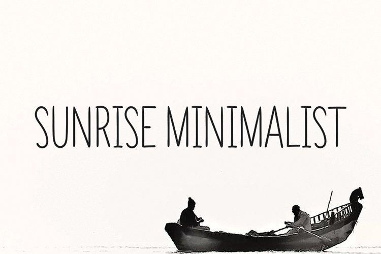 SUNRISE MINIMALIST example image 1