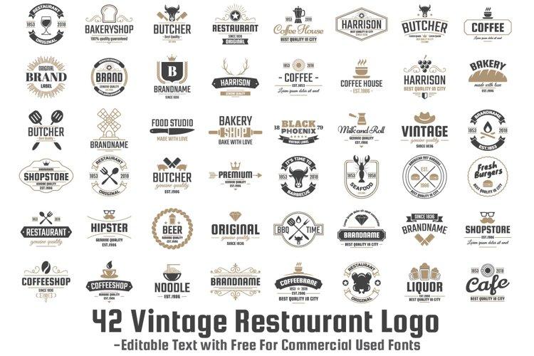 42  Vintage Logo Set example
