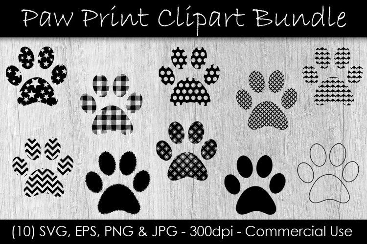 Paw Print SVG Bundle - Paw Print Clip Art example image 1