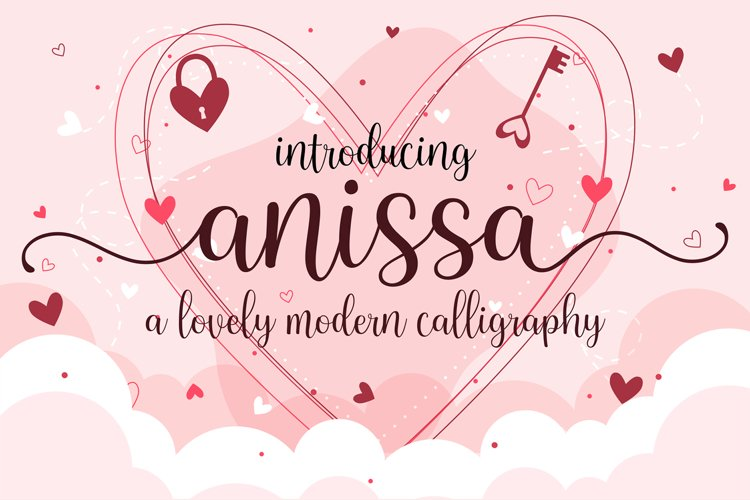 Anissa - a Lovely Modern Calligraphy example image 1