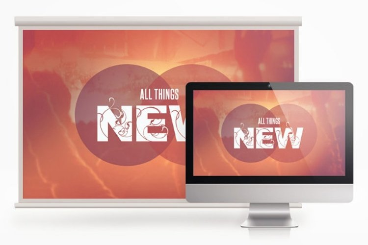 All Things New Screen Slides JPG example image 1