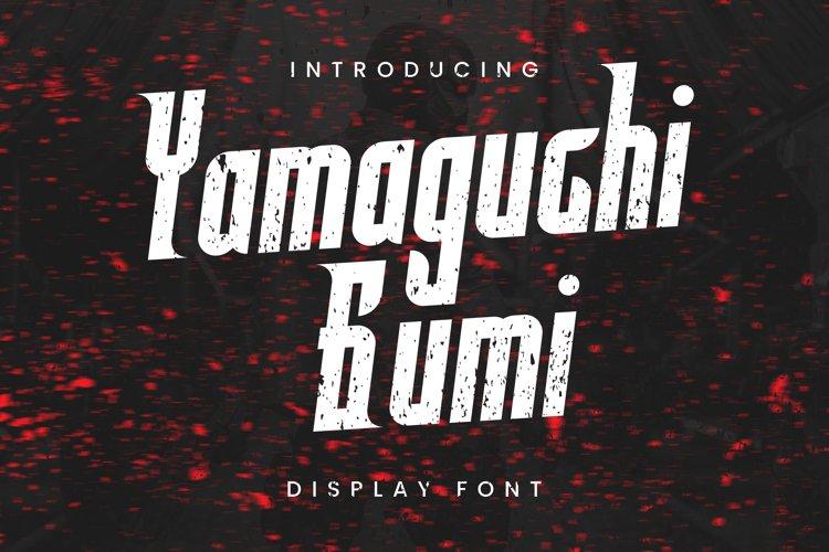 Yamaguchi Gumi Font example image 1