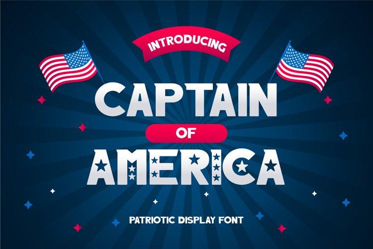Captain of America Patriotic Display Font example image 1