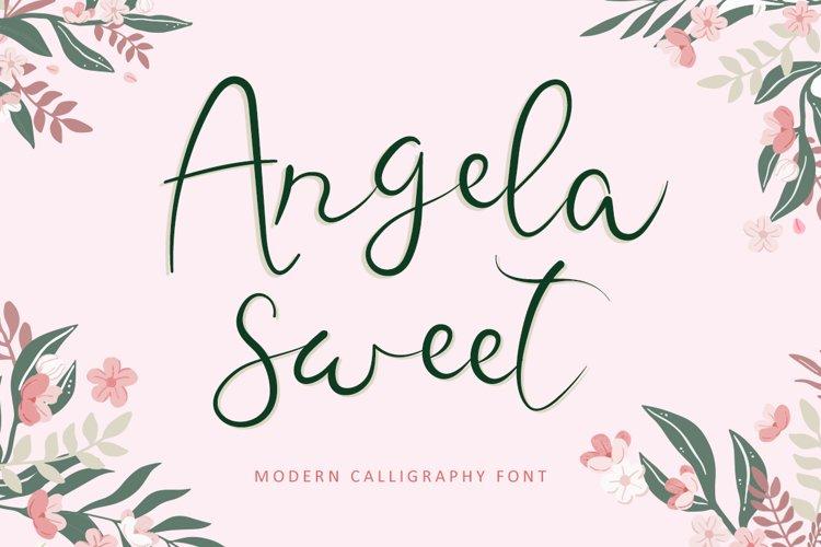 Angela Sweet - Modern Calligraphy Font