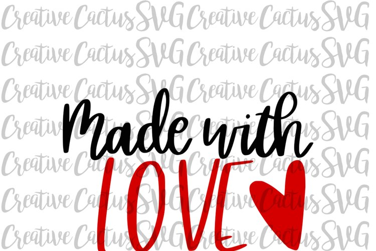 Made with Love SVG example image 1