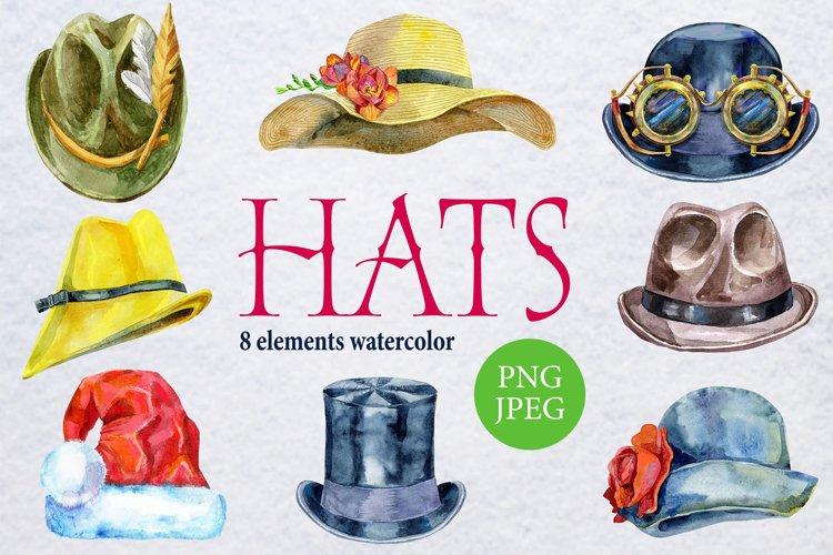 Watercolor amazing hats