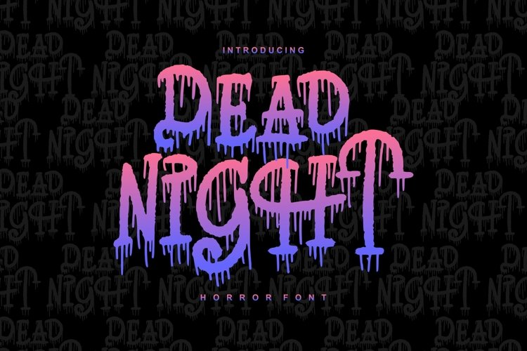 Dead Night   Horror Font example image 1