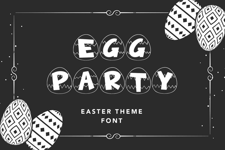 Web Font Egg Party - Easter Theme Font example image 1