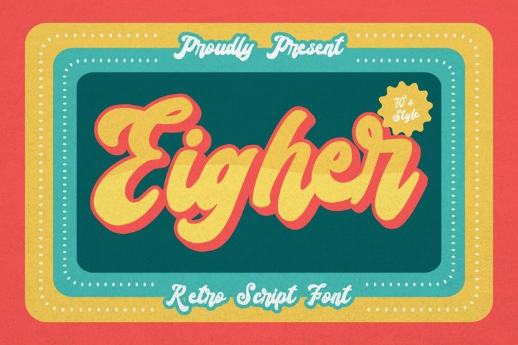 Web Font Eigher Font example image 1