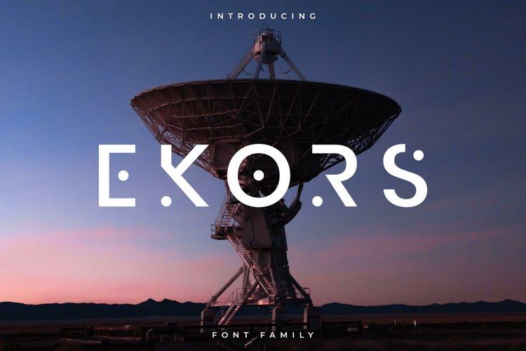 Ekors Font Family - Sans Serif