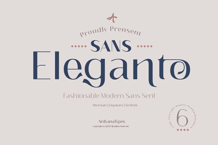 Eleganto Sans example image 1