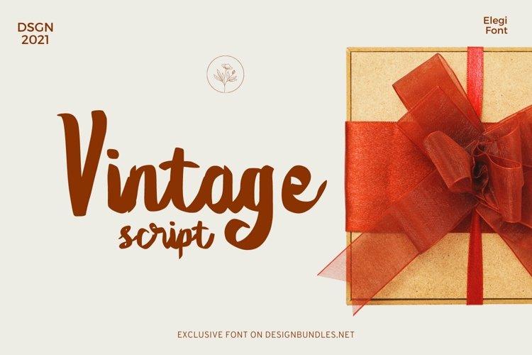 Web Font Elegi Vintage Script Font example image 1