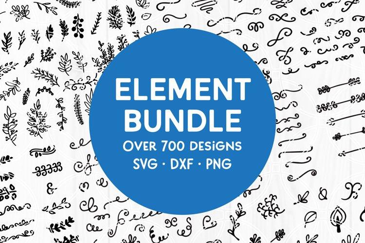 Massive Element SVG Bundle with Flourishes Swashes Swirls