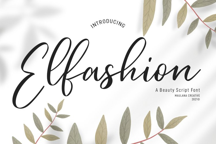 Elfashion Beauty Script Font example image 1