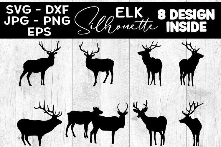 Elk Silhouettes SVG Elk Silhouette Clipart