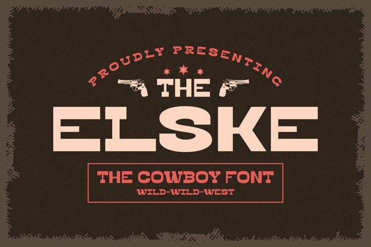 Web Font Elske example image 1