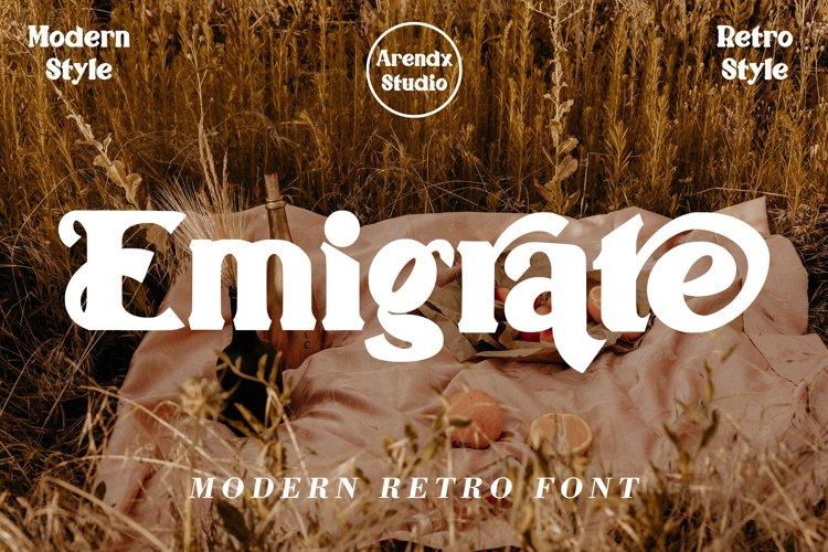 Emigrate - Modern Retro Font example image 1