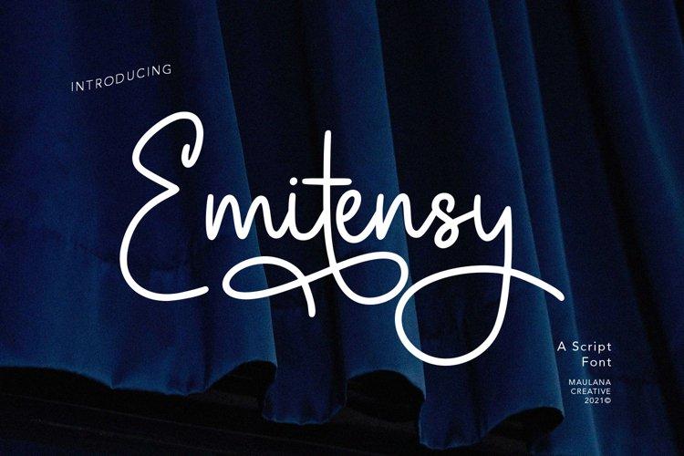 Emitensy Script Font example image 1