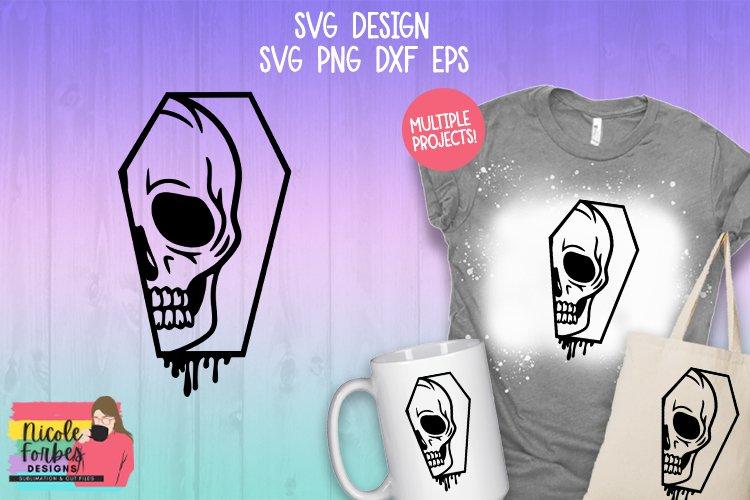 Skull Coffin SVG