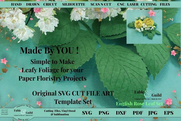 Paper Leaves SVG Paper Flower Leaf Template SVG Cricut File