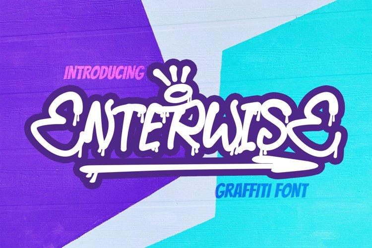 ENTERWISE - Graffiti Font example image 1