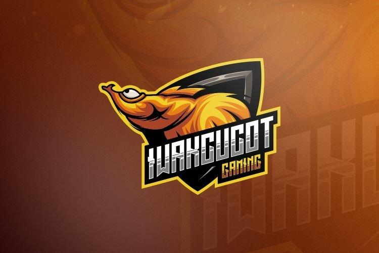 fish gaming logo design vector