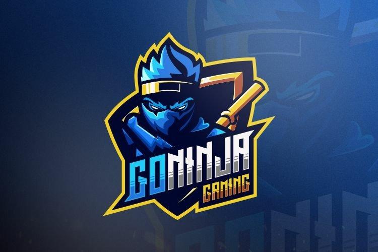 ninja gaming logo design vector