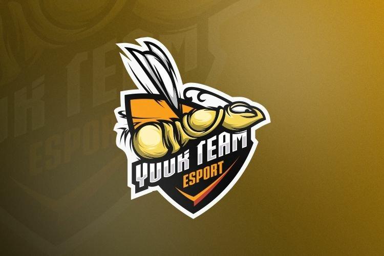 bee gaming logo design vector