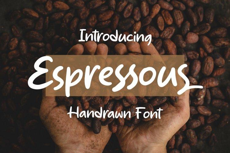 Web Font Espressous - Handrawn Font example image 1