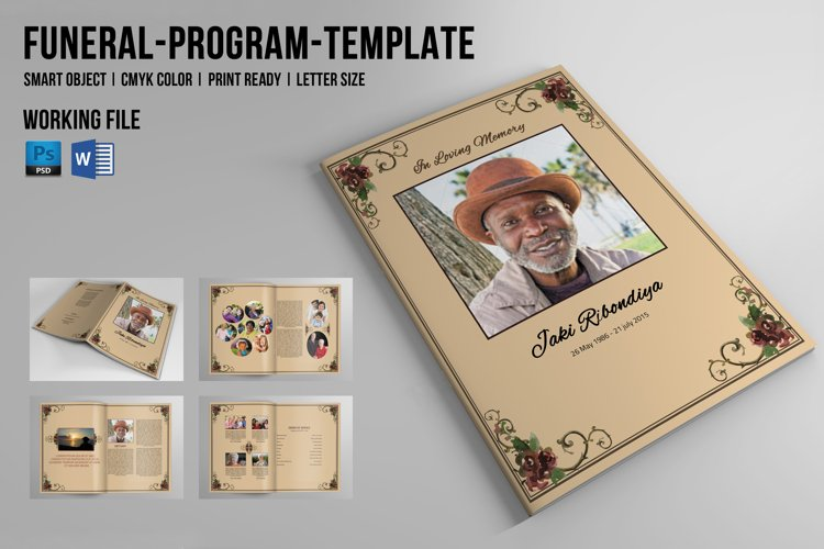 8 Page Funeral Booklet Template