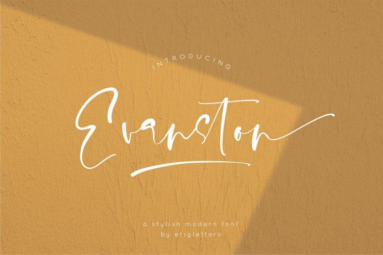 Evanston - Stylish Modern Font example image 1