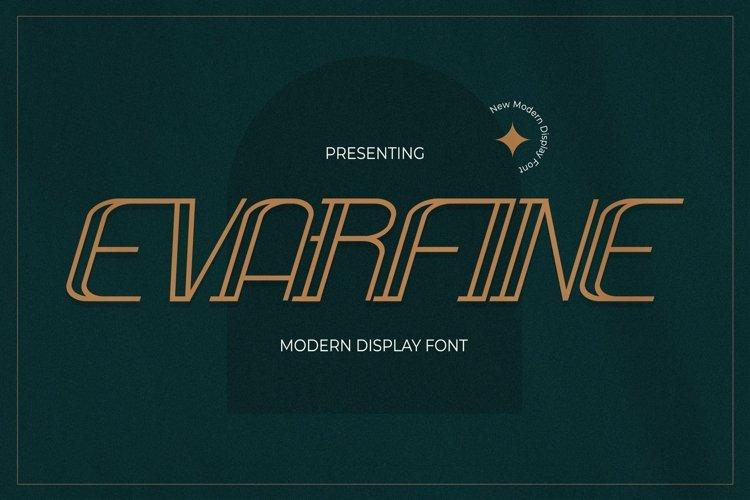 Web Font Evarfine - Modern Display Font example image 1