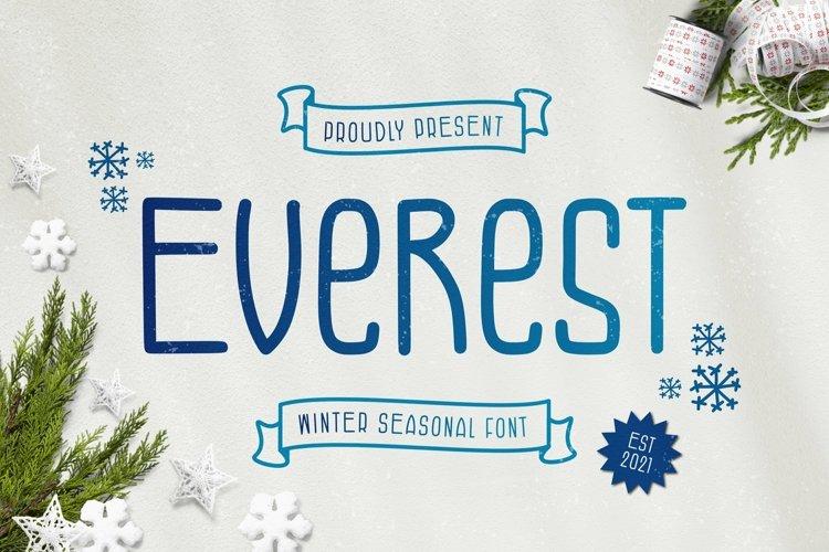 Web Font Everest Font example image 1