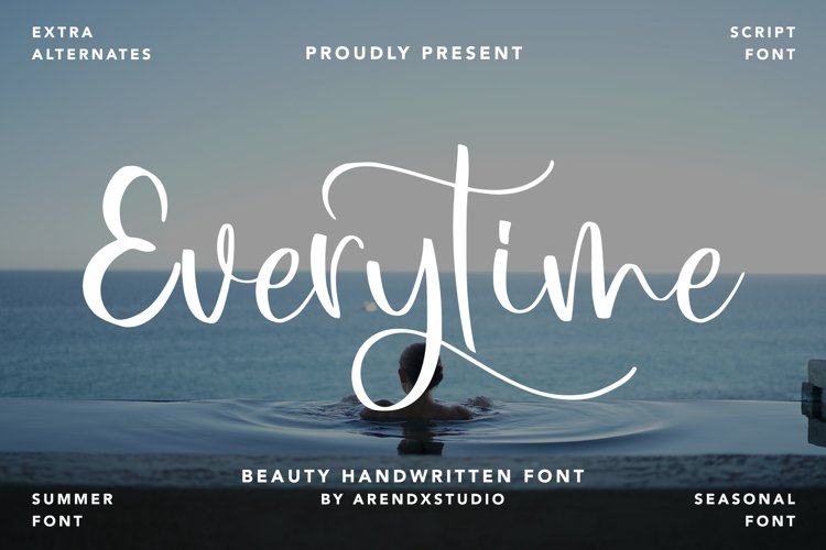 Everytime - Beauty Handwritten Font example image 1